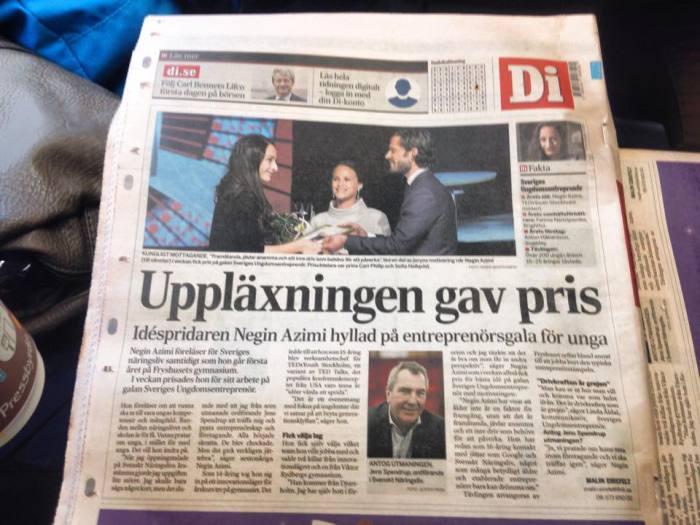 Negin Azimi- Dagens industri- DN-entreprenör-Sveriges ungdomsentreprenör
