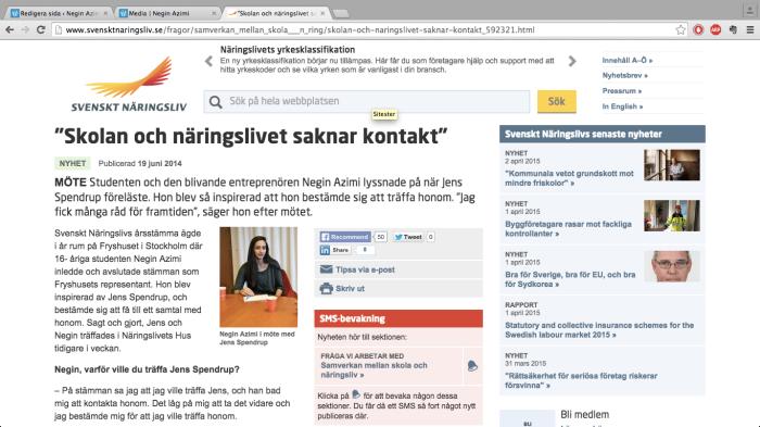 Negin Azimi-Jens Spendrup-Svenskt Näringsliv