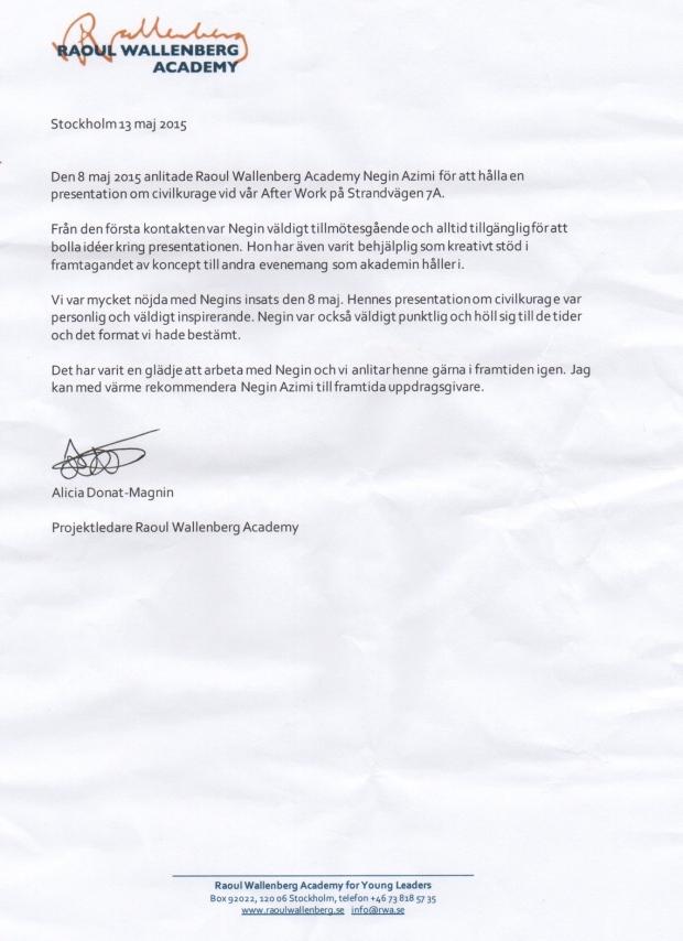 Negin Azimi- Raul Wallenberg